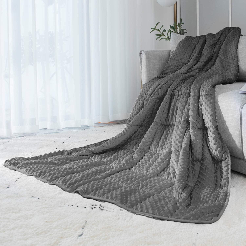 公式 ALANSMA Reversible Weighted Blanket for 高級品 Luxury Velve All Season