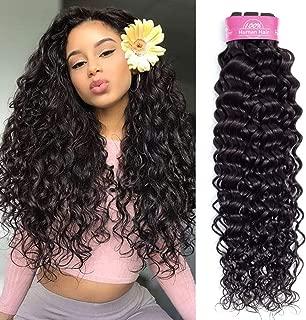 Odir 10A Brazilian Water Wave Human Hair Bundles 1 Bundle 24 Inch 100g Wet and Wavy Unprocessed Brazilian Virgin Human Hair Bundles Natural Black Color