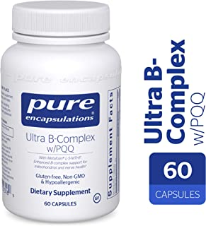 Pure Encapsulations - Ultra B-Complex w/PQQ - Hypoallergenic Supplement with Enhanced Vitamin B-Complex for Mitochondrial and Nerve Health* - 60 Capsules