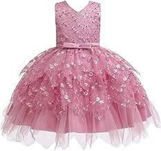 COMISARA Toddler Baby Girls Flower Dress Formal Pagenat Party Tutu Gown Dresses