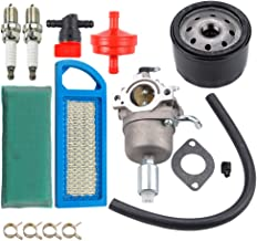 Dxent 594593 Carburetor + 697153 Air Filter 697015 Pre Cleaner + 492932S Oil Filter + 698183 Shut Off Valve for Briggs and Sratton 591731 796109 590400 797008 31H777 Carb W/Solenoid 14.5-21HP Engine