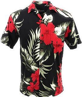 4dd3170ea Tropical Luau Beach Floral Print Men s Hawaiian Aloha Shirt