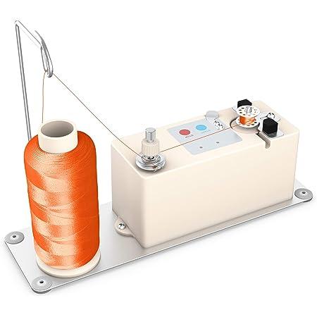Nannday Elektrischer Spulenwickler automatischer Spulenwickler zum N/ähen Weben Strickdraht Kreisf/örmiges rotierendes Werkzeug Stickgarn N/ähmaschinenzubeh/ör