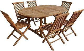 Amazon.fr : mobilier de jardin en bois exotique