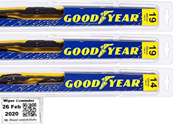 Amazon Com Windshield Wiper Blade Set Kit Bundle For 2001 2007 Toyota Sequoia Driver Passenger Rear Blades Reminder Sticker Premium Automotive