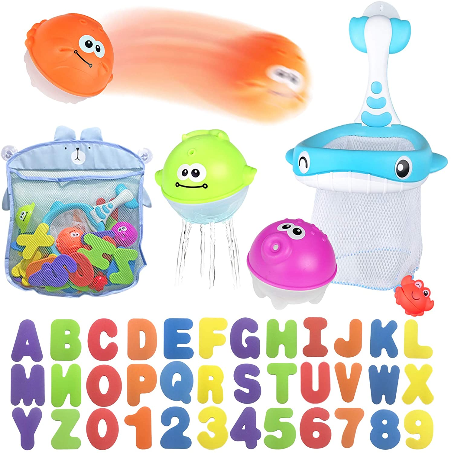 Bath Toy Discount mail order Sets 36 Foam and Letters Floating Numbers Sales Squirt