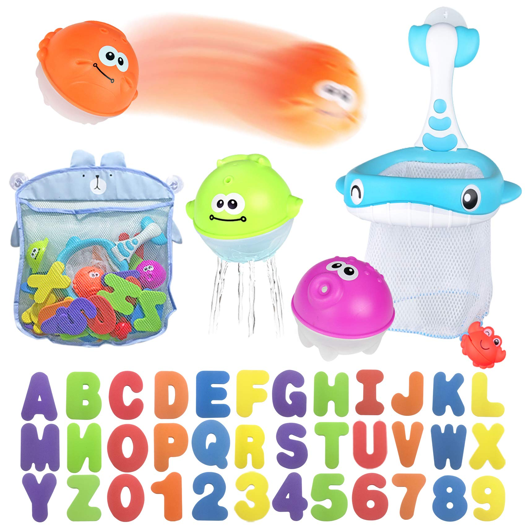 Fishing Toy,Baby Bath Toy 71 Piece Hook Double Game Learning Education Game Gift