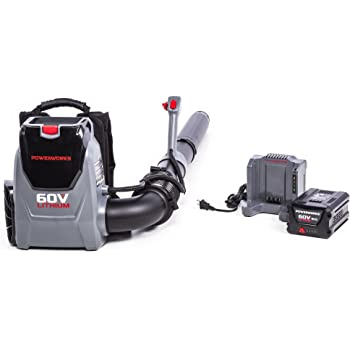POWERWORKS 60V Backpack Blower, 5.0Ah Battery and Charger Included BPB60L510PW