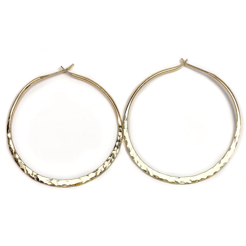 Gold Hoop Long-awaited Earrings Hoops Minimalist Soldering Filled