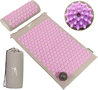 comprar comparacion Kit de acupresión Fitem - Esterilla de acupresión + Cojín de acupresión + Bolsa + Bola de masaje - Alivia dolores de Espal...