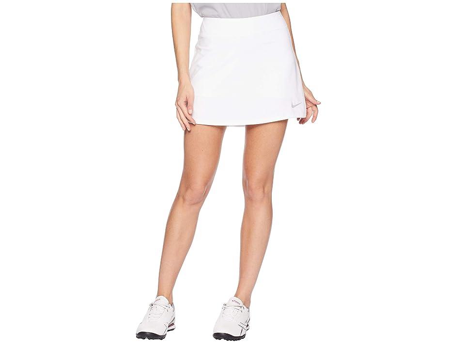 Nike Golf Dry Skort Knit 15 (White/Flat Silver) Women