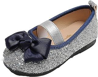 Niñas Mary Jane Ballet Flats Glitter Lentejuelas Low Top Round Toe Princesa Zapatos Niños Suela Suave Cuero Bowknot Zapato...