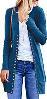 Cardigan Sweaters for Women Long Sleeve Soft Basic V-Neck Button Down Knitwear