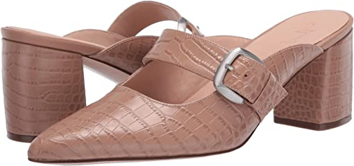Taupe Croco Print Leather