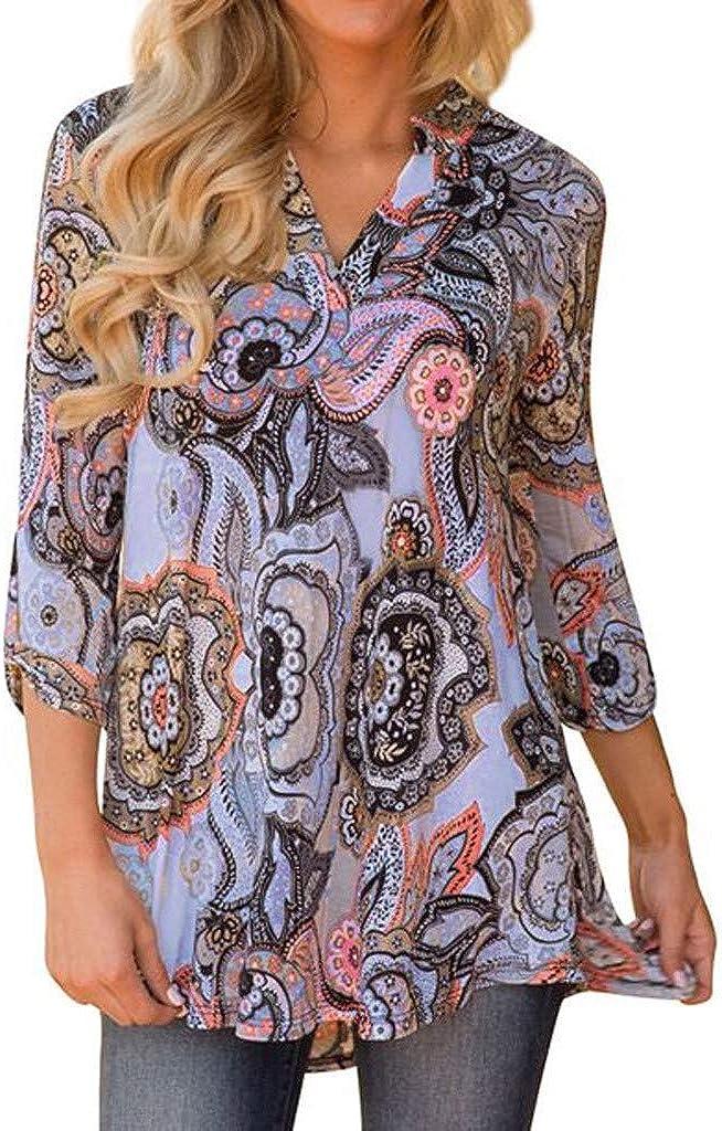 F_topbu Blouses for Women Fashion 2020 4 Bohemian 3 Sleeve Shipping included V-Ne wholesale