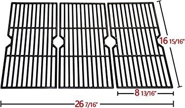 hyG117C Cast Iron Grill Grates Replacement for Charbroil 463344015 Gas Grill