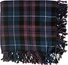 New Kilt Fly Plaid Acrylic Wool Scarf Rolled Fringe Shawl in Different Colors (Pride of Scotland)