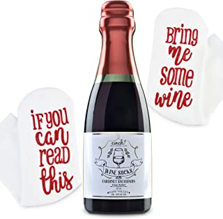 Luxury Wine Socks with Wine Tin Gift Packaging: Christmas Gift If You Can Read This Bring Me Some Wine Socks - Funny Accessory for Her, Novelty Present for Wife, Mom, and Women Under 25 Dollars