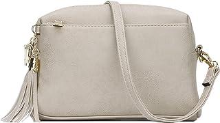 KKXIU Triple Zip Lightweight Small Crossbody Bags for Women Quilted Shoulder Purses and Handbags