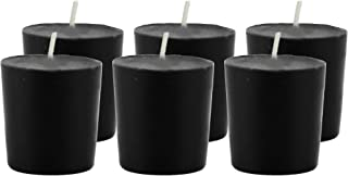 CandleNScent Black Votive Candles | Unscented - 15 Hour Burn Time - Made in USA (Pack of 6)