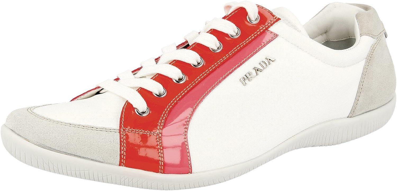 Prada Women's 3E4890 MFH F0W82 Leather Sneaker