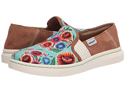 Ariat Ryder (Turquoise Oil Cloth Print) Women