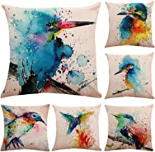 Oil Painting Cotton Linen Throw Pillow Case Cushion Cover Home Sofa Decorative 18 X 18 Inch/45X45cm(Cover Only,No Insert) ...