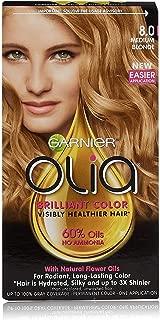 Garnier Olia Ammonia Free Hair Color [8.0] Medium Blonde 1 Each (Pack of 3)
