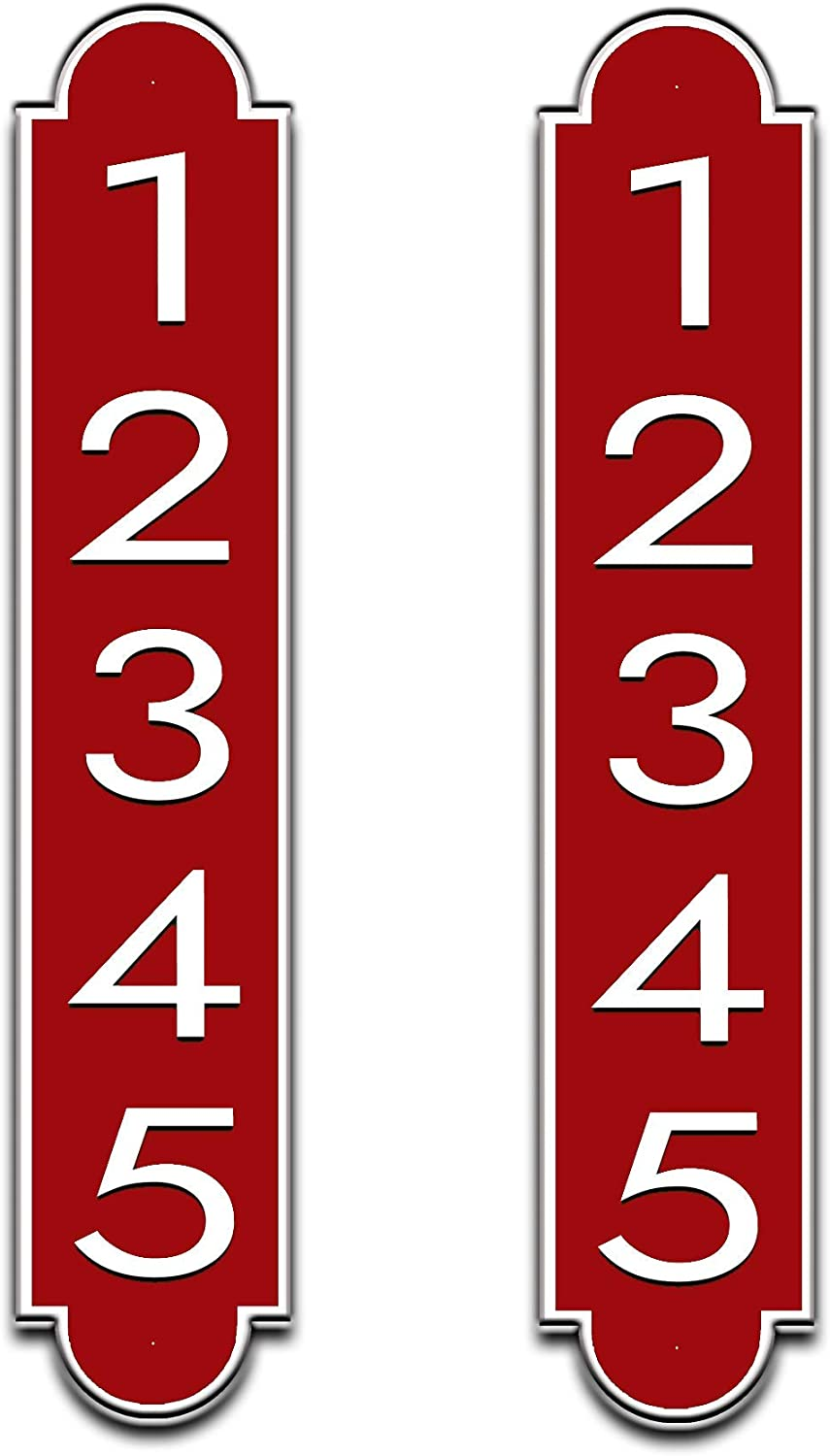 Curb-N-Sign 2 Fancy Highly Reflective Max 64% OFF P Address Mailbox Recommended Plaques