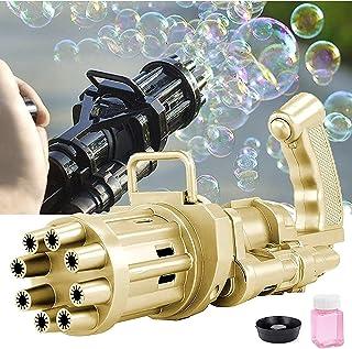 لعبة مسدس فقاعات كهربائي صغير جاتلينج للفقاعات الملونة لون (اسود)