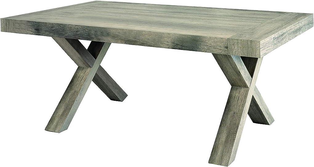 Tavolo allungabile, legno, rovere invecchiato, 180x90x75 cm fashion commerce fc818