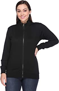 69GAL Women Sweatshirt in Black Color (Pack of 1) (Closure Zipper) (S/M/L/XL/3XL/5XL)