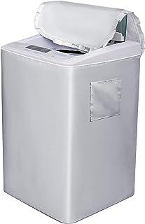 「最新型」洗濯機カバー 防水 台風 シルバー 4面包みデザイン 洗濯機 カバー 防水 防塵 防湿 防UV 室外機カバー テープ付き ドライヤ、洗濯機対応可能 M
