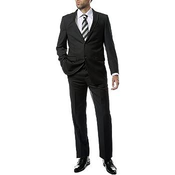 Ferrecci 42L Mens 2pc 2 Button Regular Fit Charcoal Suit
