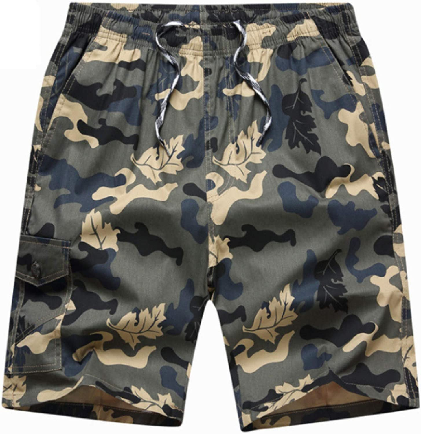 Wantess Men's Camouflage Print Shorts Loose Large Size Comfortable Breathable Casual