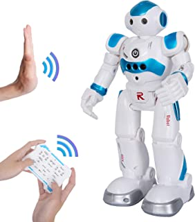 BBdis RC Robot Toy, Gesture Sensing Remote Control Robot for Kids Intelligent Programmable Robot with Infrared Controller Singing Dancing & Walking Robot for Girl Boy 3-12 Year Birthday Gift Present