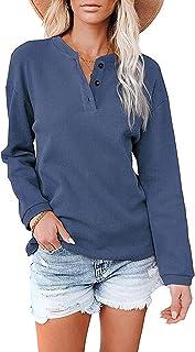 Herfst en Winter Nieuwe Dameskleding V-hals Effen Kleur Lange mouwen Shirt T-Shirt Vrouwen