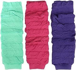 Little Girls 3 Pair Layered Ruffles Leg Warmers