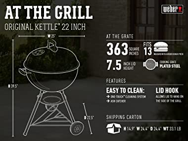 Weber 741001 Original Kettle 22-Inch Charcoal Grill