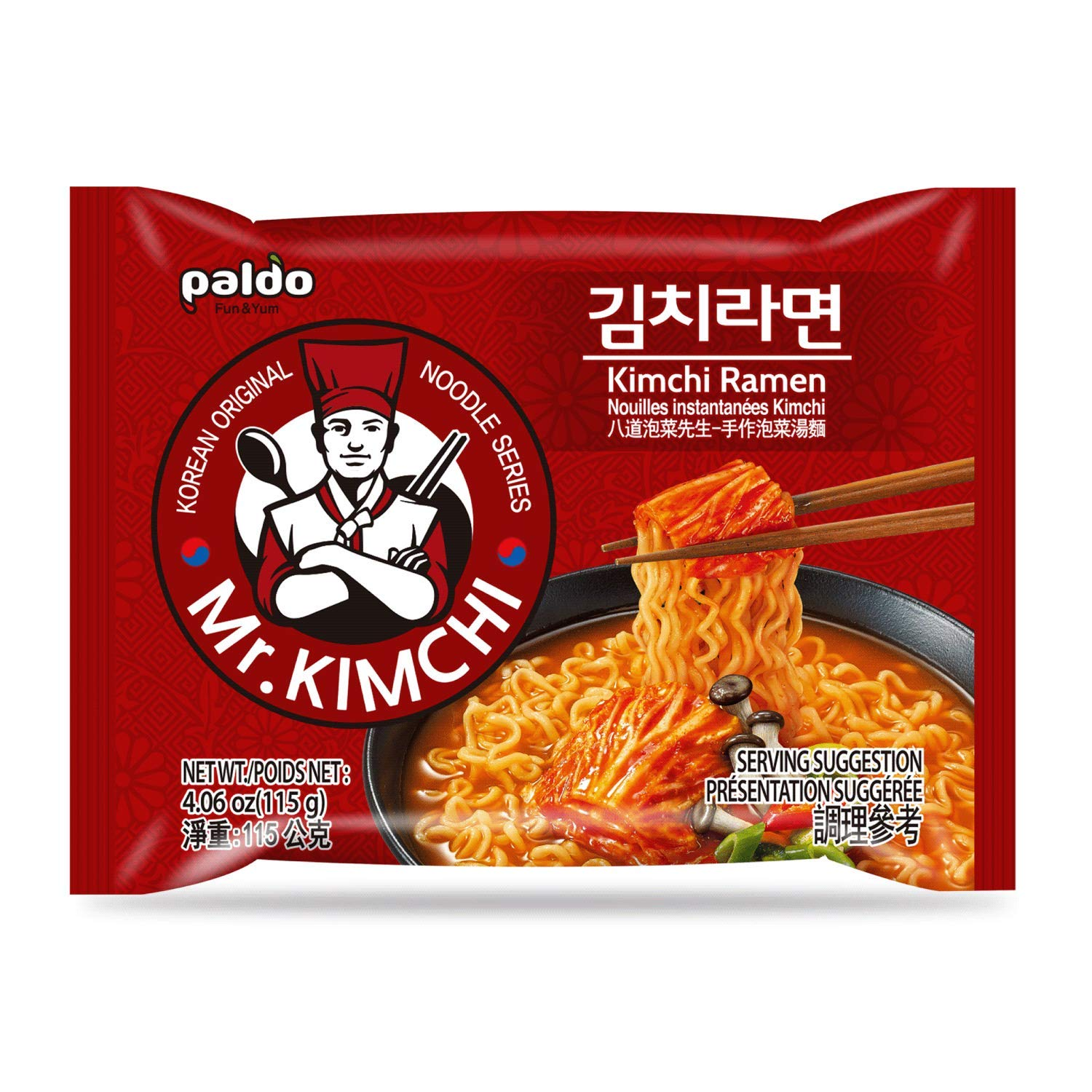 Paldo Fun Yum Super beauty product restock Max 72% OFF quality top Kimchi Ramen Instant Noodles Soup with B
