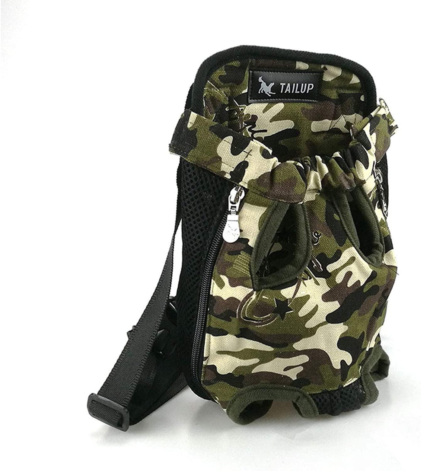 PETFDH Dog Cat Carrier Pet Products for Small Dog Carrier Puppy Cat Carry Backpack Dog Bag Handbags Hammock Backpack PY0002 Camouflage M for 2.54kg