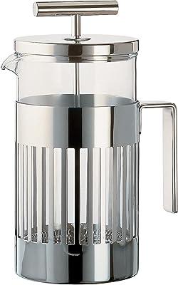 Alessi - Cafetera con filtro, color plateado