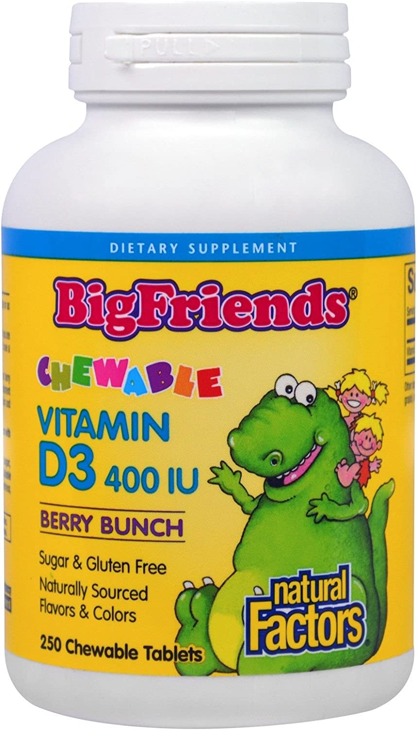 Big Friends Vitamin D3 400 IU Berry Outlet SALE Facto Bunch Chewable Natural We OFFer at cheap prices