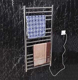 Heated towel rail Calentador de Toallas eléctrico Inteligente, radiador eléctrico montado en la Pared de Acero Inoxidable 304, repisa para baño del Hotel, 1100X520X120mm