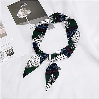 1pc Ribbon Scarf Print Neckerchief Neck Hair Handkerchief Headband Bandana Tied 90cm (Color : 7, Size : 90cm)