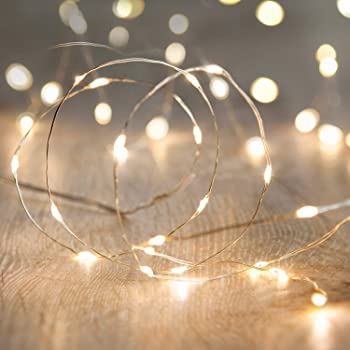 String Lights,Waterproof LED String Lights,10Ft/30 LEDs Fairy String lights Starry ,Battery Operated String Lights for Indoor&Outdoor Decoration Wedding Home Parties Christmas Holiday.(Warm White)