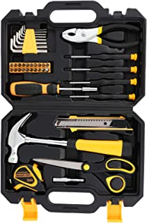 COMOWARE 40-Piece Tool Set - General Household Hand Tool Kit with Plastic Toolbox Storage Case