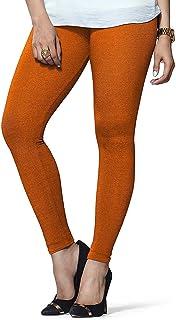 Ladyline Womens Cotton Cool Leggings One Size Free Size & Plus Size Yoga Workout
