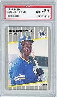 1989 Fleer Ken Griffey Jr. #548 PSA 10 Gem Mint