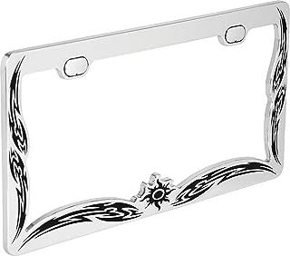 Bell Automotive 22-1-46163-8 Universal Tribal Design License Plate Frame